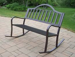 Garden Rocking Bench Oakland Living Rochester Tubular Iron Outdoor Garden Rocking