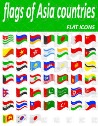 Flags Of Countries Set Of Flags Of Asia Countries Royalty Free Vector Clip Art Image