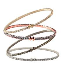 bangle bracelet with crystal images Swarovski crystal single double triple or five coil bangle bracelets jpg