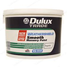 dulux trade weathershield smooth masonry exterior paint magnolia 10l