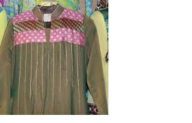 casual dress in brown color beautiful applique designing id