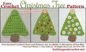 easy crochet tree pattern knitting and crochet