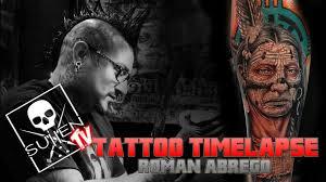 tattoo time lapse roman abrego tattoos indian portrait youtube