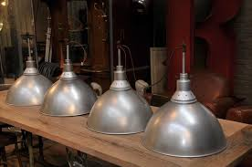french industrial pendant lighting set of 14 french vintage industrial pendant lights with old green