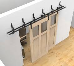 Barn Door Closet Hardware by Bypass Sliding Barn Wood Door Hardware Black Rustick Barn Sliding