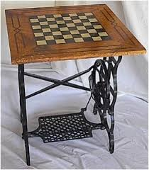 Outdoor Checker Table Made From Chess Board Tables Furniture Foter