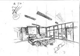 Interior Sketch by Interior Sketch Isometric Restaurant View