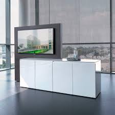 contemporary multimedia cabinet for conference rooms wooden