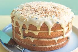 lemon and passionfruit layered sponge cake