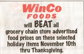 Thanksgiving Food Prices Slave To Save New Winco Ad Pricematching Til Thanksgiving