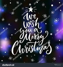 we wish you merry text stock vector 526190104