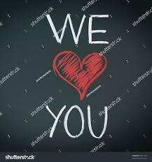 we love you handwriiten message chalk stock photo 95011159