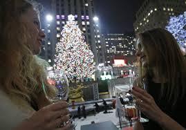 christmas tree lights up in manhattan new york city 9 big