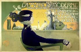 vintage french art nouveau advertising poster