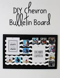 Office Board Design by Diy Chevron Bulletin Board Lipgloss And Crayons