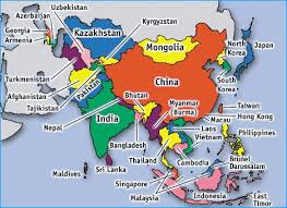 asia map and countries asia map with all countries major tourist attractions maps