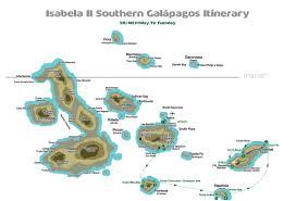 Galapagos Map Southern Galápagos Isabella Ii