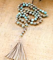 beads knots necklace images N15100709 bohemia necklace seidiment sediment stone beads knot jpg