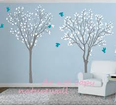 decoration ideas simple yet stunning pink girl baby nursery room beautiful wall decoration using cherry blossom wall mural interactive living room interior design with blue