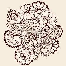 hand drawn intricate abstract flowers mehndi henna tattoo paisley