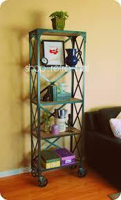 Industrial Metal Bookshelf Shelving Vintage Industrial Furniture