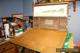antique child u0027s chautauqua industrial art desk with chalkboard and