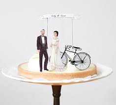 bicycle cake topper 20 creative wedding cake toppers for your inspiration hongkiat