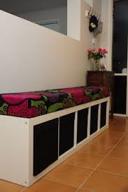 diy window seat bookcase with no sew bench cushion no sew