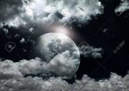 halloween full moon background full moon in a cloudy night stock photo picture and royalty free