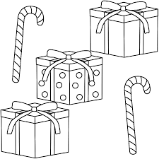 candy cane clipart christmas gifts pencil color candy