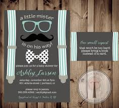 little man baby shower invitation and book request card little