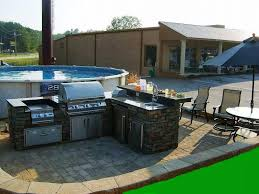 backyard designs with pool and outdoor kitchen home decor gallery