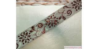 gold lace ribbon chagne copper jacquard floral bridal wedding trim lace