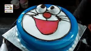 doraemon cartoon shape cake decoration youtube
