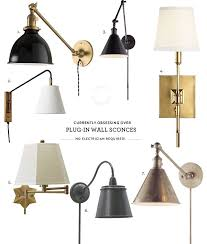 plug in wall lights obsessed with plug in wall sconces wall sconces walls and lights