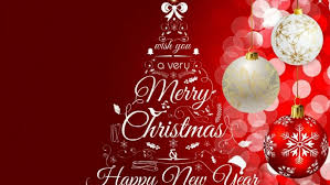 greeting card merry christmas and happy new year 2018 images
