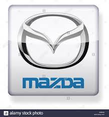 logo de mazda mazda logo as an app icon clipping path included stock photo