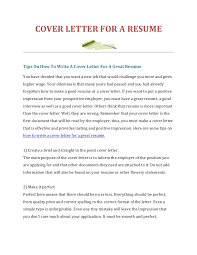 make a cover letter how to write a cover letter for a resume
