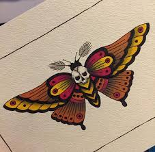 death head moth tattoo design pictures to pin on pinterest