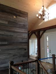 Grey Accent Wall by Reclaimed Barnwood Accent Wall In Entry Way Of Reclaimed Barnwood