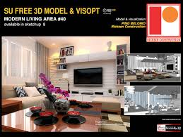 sketchup texture great free sketchup model modern living area 40