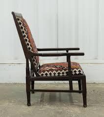 Armchair Upholstered Vintage Indian Armchair Upholstered In Vintage Kilim Rug For Sale