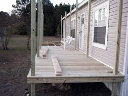 simple terrace design in porch for mobile homes idolza