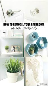 how to refresh a bathroom in a weekend