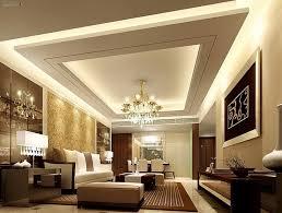 Living Room Pop Ceiling Designs Entrancing White Brown Pop False