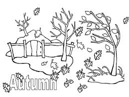 coloring page of fall autumn season coloring pages autumn season with fall leaf coloring