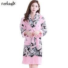 femme de chambre chaude femmes d hiver peignoir de flanelle hiver robe féminine nuit chaude