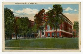 Barnes Jewish Hospital Kingshighway St Louis Mo Handcolored Postcard Of The First Jewish Hospital Of St Louis