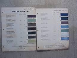 1950 dupont nash car colors paint chips bulletin no 17 mixing