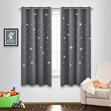 amazon com gray stars kids room curtains nicetown naptime